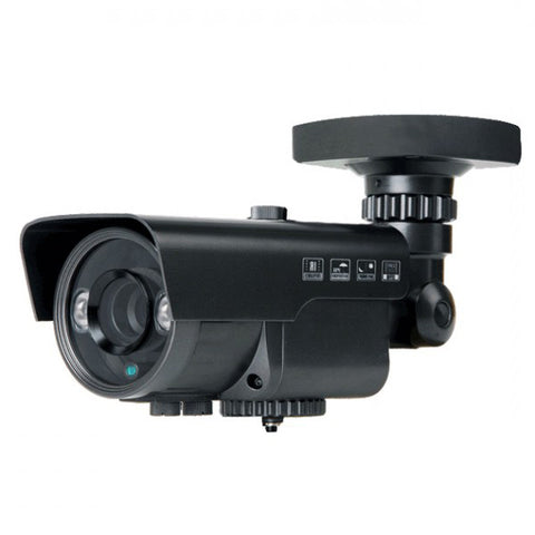 2MP HD 4-Way 1080P Bullet Camera, Vari-focal 2.8-12mm lens, Black