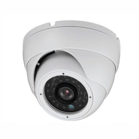 HD-CVI Armored Dome Camera 720p in White.