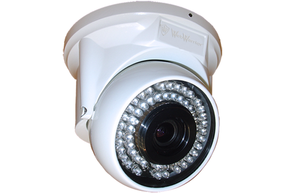 2.4 MP HD TVI 1080P Freezer Varifocal Dome Camera for Tough Low Temp Environments, White