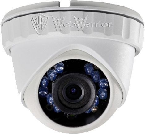 1.3MP HD TVI 720P Armored Mini Dome Camera, 2.8mm lens, White