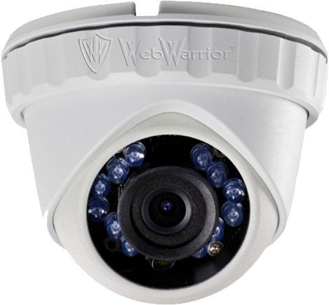 1.3MP HD TVI  720P Armored Mini Dome Camera, 3.6mm lens, White