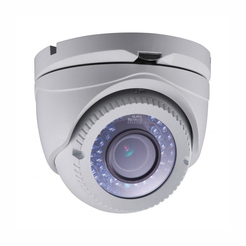 2MP HD TVI 1080P Advanced Armored Dome Camera, Vari-focal 2.8-12mm lens, Motorized Zoom, White