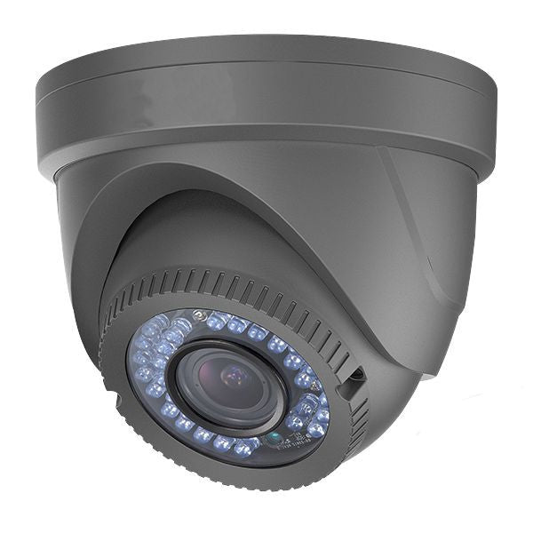 2.1 MP HD TVI 1080p Advanced Mini Turret Dome Camera, 2.8mm lens Extra Wide Gray