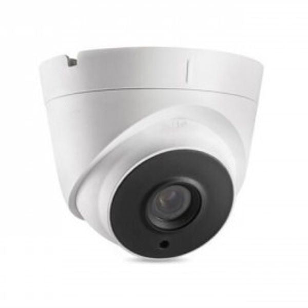 5MP HD TVI Advanced EXIR Armored Dome Camera, White/Black Face
