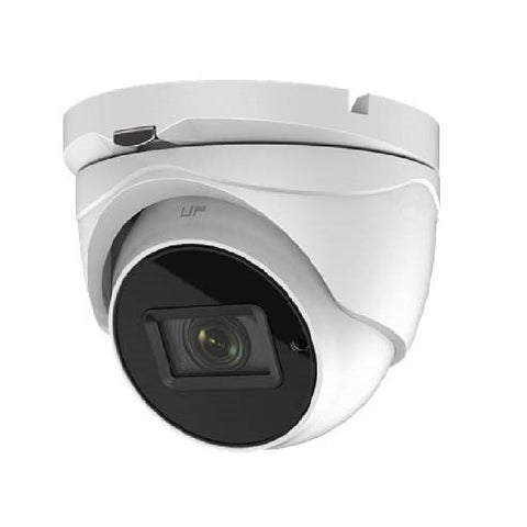 8.29MP UHD TVI 4K Advanced Armored Dome Camera, Varifocal, Motorized Zoom, White