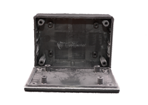 "Enclosure Box 2""X 3""X 1"" black plastic"