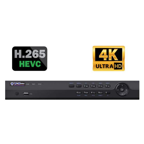 16 Channel 4K UHD 160M 1U 16 POE Network Video Recorder-