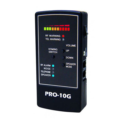 Pro-10G No. 1 GPS tracker Finder, RF Bug and phone tap detector