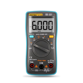 Digital Multimeter TRMS Tester Diode Buzzer Test Capacitance Resistance Hz Duty Cycle AC/DC