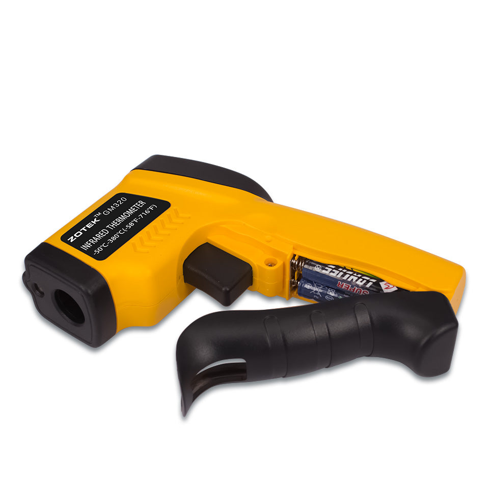 Infrared Thermometer ZOTEK Compact Laser Digital Infrared Thermometer LED Backlight Displayr