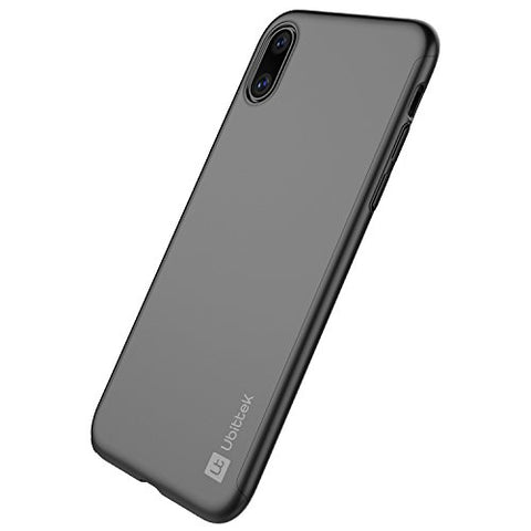 iPhone X Case with Tempered Glass Screen Protector (Black)