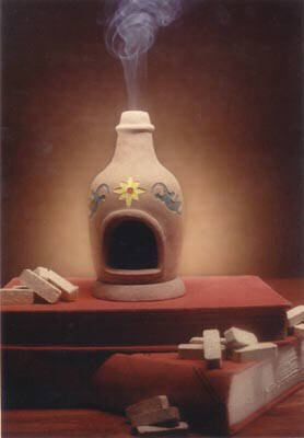 Chiminea Fireplace Burner With Hickory Natural Wood Incense - Incienso De Santa Fe