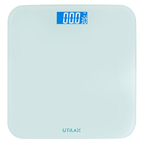 Digital Body Weight Bathroom Scale Show Room Temperature (White)