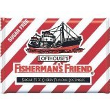 5 pack New New Fisherman's Friend Menthol Cough Suppressant,Sugar Free Cherry 25*5g.