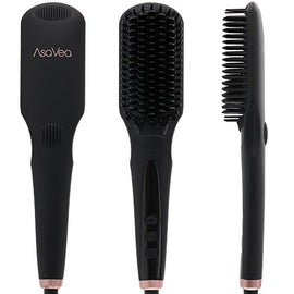 Hair Straightener Straightening Brush (BLACK1)