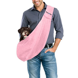 FurryFido Reversible Pet Sling Carrier for Cats Dogs up to 13+ lbs, Pink