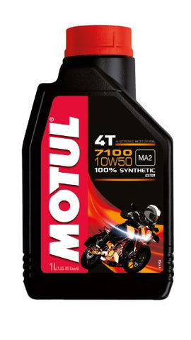 Motul 7100 4T Synthetic Ester Motor Oil - 10W50 - 1L. 104097