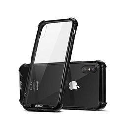 iPhone X Hard Back PC Cover, Ultra Lightweight [TPU Crystal Clear] Anti-Scratch Reinforced Corner Protection Bumper Case (Clear/Black)