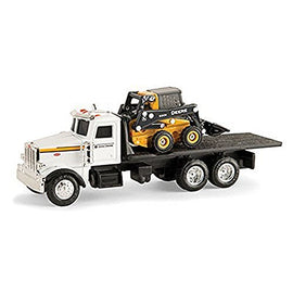John Deere 1/64 Scale 320E Skid Steer with Truck