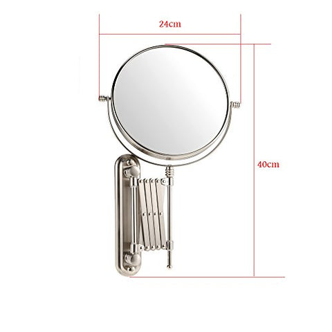 Anself 8in 7X Magnification Wall Mount Bathroom \Rotatable Folding Dual Sided Hanging Mirror