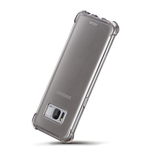 Samsung Galaxy S8 Case with Soft TPU Material and Shock-Absorbing, Scratch Resistant Cover by Ubittek, Phone Case for Samsung Galaxy S8 2017 (Gray)