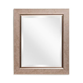 Wall Mirror Decorative Bathroom - Vanity Copper Bronze Rectangular Beveled Frame 21x25