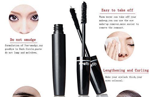 3D Mascara and Fiber - Highest Quality Natural & Non-Toxic Hypoallergenic Ingredients - Build Rich and Thick Eyelash, Waterproof