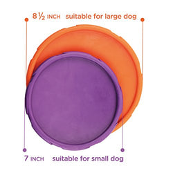 Furry Fido Flyer for Playing Frisbee with Dogs, Durable and Chewyable Dog Toy Made by Natural Rubber