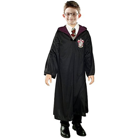 Kid's Deluxe Harry Potter Gryffindor Robe Costume with Emblem (M)