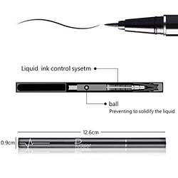 Precise Liquid Eyeliner,Waterproof High Seal Eyeliner Pen, Black, (Black1)