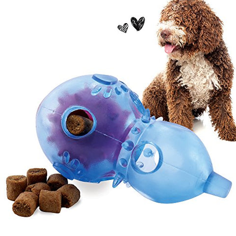 Interactive Dog Toys by FurryFido, treat dispensing for Dogs/Cats (Blue Calabash)