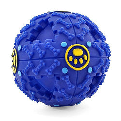 Interactive Dog Toys by FurryFido, Dog toys ball and treat dispensing for small/middles size and unchew dog (Blue)