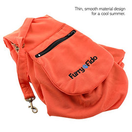 FurryFido Adjustable Pet Sling Carrier for Cats Dogs Up to 13+ lbs (apricot)