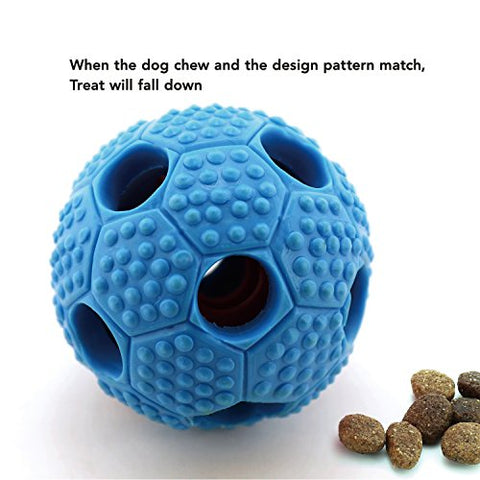 FurryFido Interactive Nontoxic Themoplastic Rubber Toy for Dogs, Blue Soccer