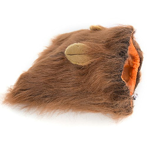 Lion Mane -Lion Wig for Medium to Large Sized Dogs with Ears plus Gift [Lion Tail] Lion Wig for Dog (light Brown)
