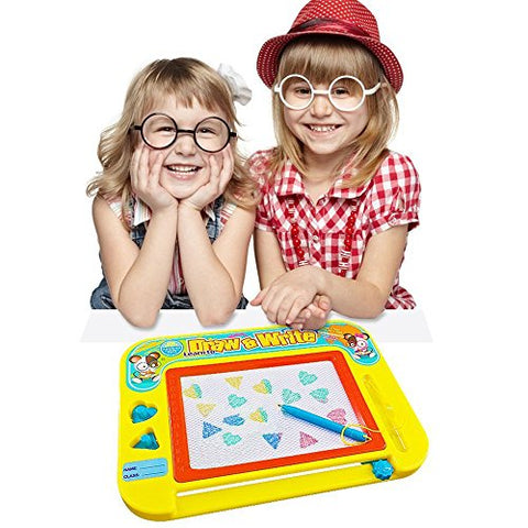 Magnetic Drawing Board for Kids & Toddlers with Stamps [Travel Size]