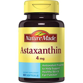 Nature Made Astaxanthin 4 mg. Softgels 60 Ct