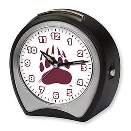 NCAA Collegiate Team Glow-in-the-Dark Table Musical Alarm Clock: University of Montana