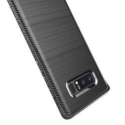 Galaxy Note 8 Case, Ubittek Resilient Shock Absorption and Carbon Fiber Design Case for Samsung Galaxy Note 8 (Black)