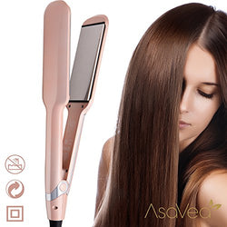 AsaVea Professional Ceramic Hair straightener,Flat Iron with Advanced Infrared Technology