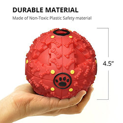 Interactive Dog Toys by FurryFido, Dog toys ball and treat dispensing for small/middles size and unchew dog (Orange)