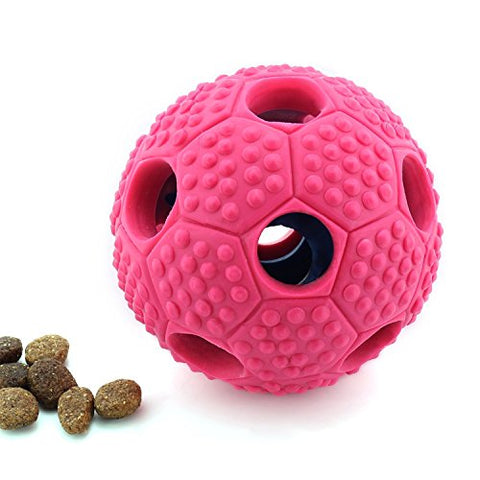 FurryFido Interactive Nontoxic Themoplastic Rubber Toy for Dogs, Pink