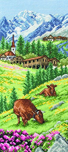 Anchor Swiss Alpine Landscape Cross Stitch Kit