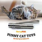Best Cat Toy For Endless Fun: Interactive LED Light by FurryFido to Entertain Your Pets - Best for Teasing Cats and Dogs, USB Chargeable