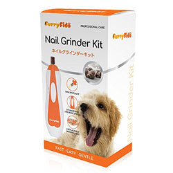 Pet Nail Grinder File  - Gentle, Powerful and Safe Paws Grooming with 6 Sanding Bands in a Cute Storage File (Orange)