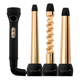 Hair Curler Interchangeable Wands (ROSE GOLD)