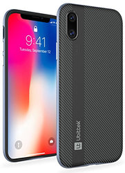 iPhone X Flexible Inner Protection and Reinforced Hard Bumper Frame Case (Gray)