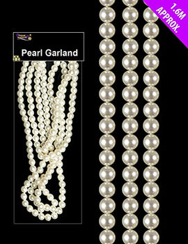 1.6 Metre Pearl Bead Garland - Pearl Beads For Christmas Tree Decoration by Christmas Shop