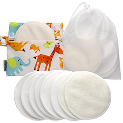 Best Washable Organic Bamboo Nursing Pads(8 Pack)