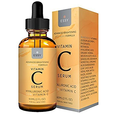 Essy Beauty Facial Vitamin C Serum for Firming and Younger Looking Skin (orange)